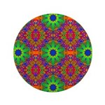 Orange and Lime Green Fractal Pattern 3.5