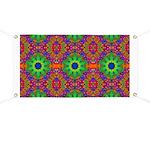 Orange and Lime Green Fractal Pattern Banner