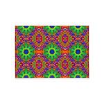 Orange Lime Green Fractal 5'x7'Area Rug