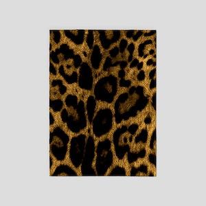 Jaguar Print 5'x7'Area Rug