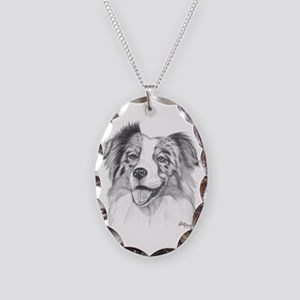 Australian Shepherd Necklace Oval Charm