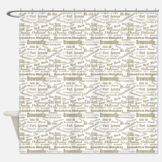 Brooklyn Hoods Shower Curtain