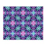 Turquoise Purple Fractal Pattern Throw Blanket
