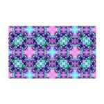 Turquoise Purple Fractal Pattern 35x21 Wall Decal