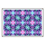 Turquoise Purple Fractal Pattern Banner