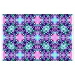 Turquoise Purple Fractal Pattern Large Poster