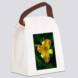 .bi-color daylily. Canvas Lunch Bag