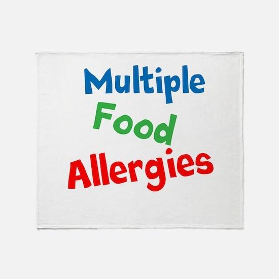 Multiple Food Allergies Throw Blanket