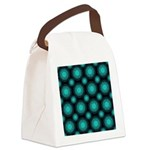 Turquoise Hippie Mandala Canvas Lunch Bag