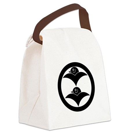Two wild geese in circle Canvas Lunch Bag