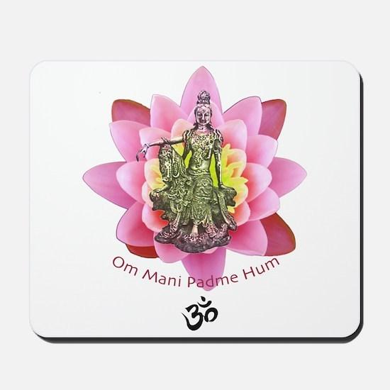 Kuan Yin Mantra Mousepad