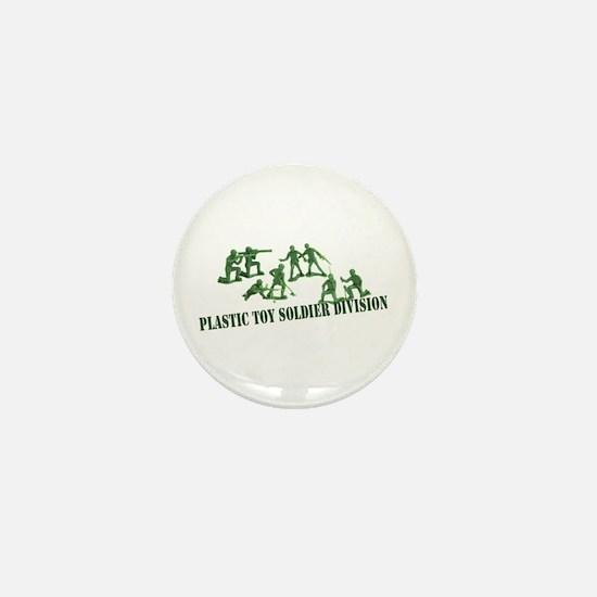 Plastic Toy Soldier Division Mini Button