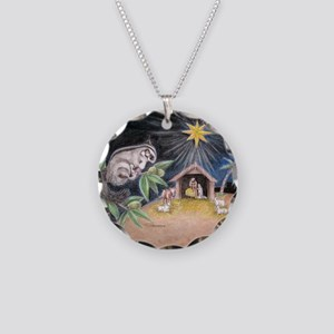 At the Manger Necklace Circle Charm