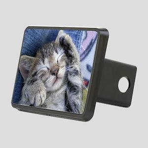 Sleeping kitten 3 Rectangular Hitch Cover