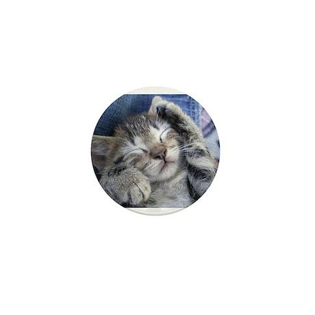 Sleeping kitten 3 Mini Button