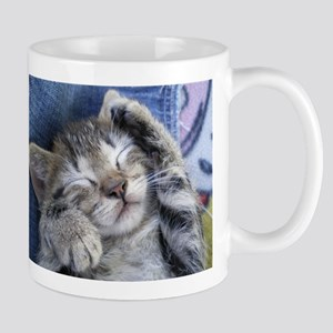 Sleeping kitten 3 Mug