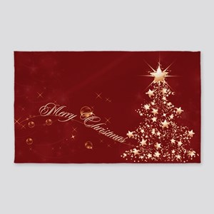 red golden christmas 3x5 area rug - Golden Christmas 3
