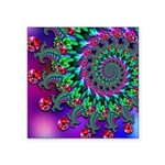 Purple Green and Red Bokeh Fractal Pattern Square