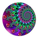 Purple Green and Red Bokeh Fractal Pattern Round C