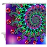 Purple Green and Red Bokeh Fractal Pattern Shower