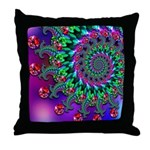 Purple Green and Red Bokeh Fractal Pattern Throw P