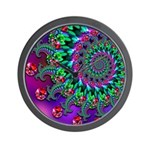 Purple Green and Red Bokeh Fractal Pattern Wall Cl