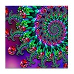 Purple Green and Red Bokeh Fractal Pattern Tile Co