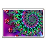 Purple Green and Red Bokeh Fractal Pattern Banner