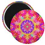 Pink Fractal Art Mandala Pattern 2.25