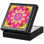 Pink Fractal Art Mandala Pattern Keepsake Box