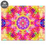 Pink Fractal Art Mandala Pattern Puzzle