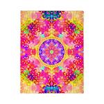 Pink Fractal Art Mandala Pattern Twin Duvet