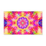 Pink Fractal Art Mandala Pattern 20x12 Wall Decal