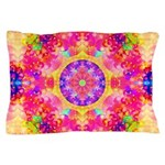 Pink Fractal Art Mandala Pattern Pillow Case