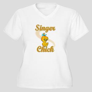 Singer Chick #2 Women's Plus Size V-Neck T-Shirt
