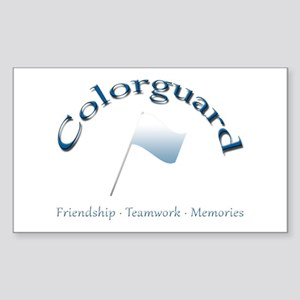 Colorguard: Friendship Teamwork Memories Sticker (