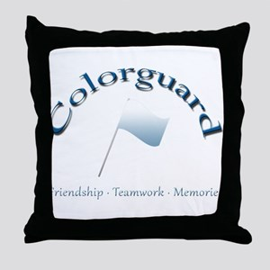 Colorguard: Friendship Teamwork Memories Throw Pil