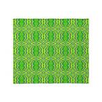 Retro Lime Green Pattern Throw Blanket
