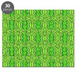 Retro Lime Green Pattern Puzzle