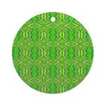 Retro Lime Green Pattern Ornament (Round)