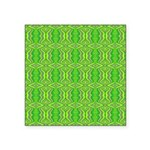 Retro Lime Green Pattern Square Sticker 3