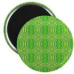 Retro Lime Green Pattern Magnet