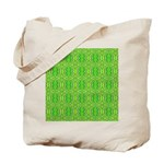 Retro Lime Green Pattern Tote Bag