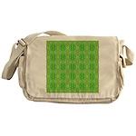 Retro Lime Green Pattern Messenger Bag