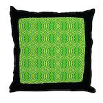 Retro Lime Green Pattern Throw Pillow