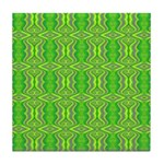 Retro Lime Green Pattern Tile Coaster