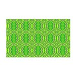 Retro Lime Green Pattern 35x21 Wall Decal