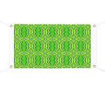 Retro Lime Green Pattern Banner