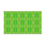Retro Lime Green Pattern 20x12 Wall Decal