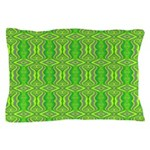 Retro Lime Green Pattern Pillow Case
